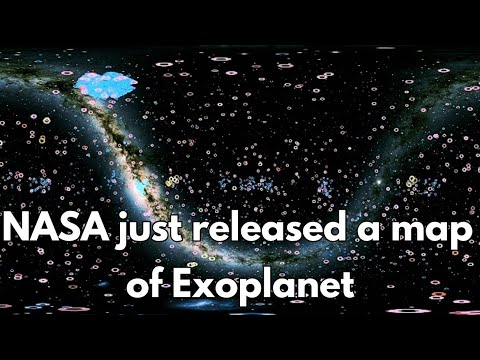 Exoplanet map released by NASA   4000 Exoplanets 