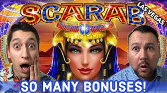 SCARAB BONUS - Which Pays better 5 or 10 FREE GAMES? Palm Springs Spinners
