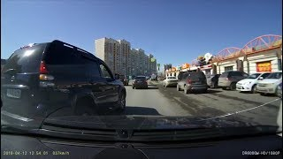 """У """"Дирижабля"""" дерзкий водитель, подрезая, попал в ДТП"""