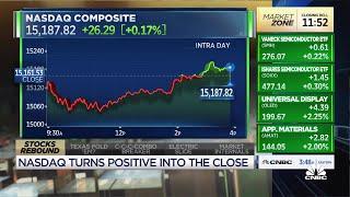 Stocks rebound into market close