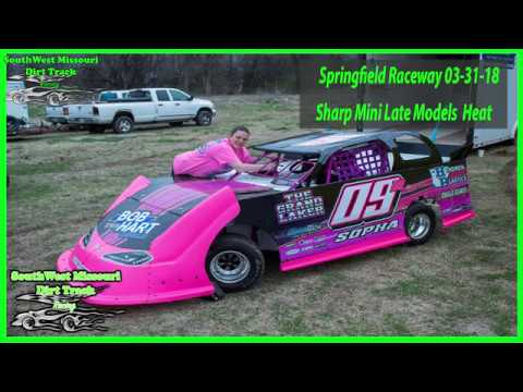 Sharp Mini Late Models - Heat Races - Springfield Raceway 3-31-2018 Dirt Track Racing