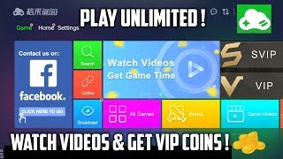 NOW PLAY UNLIMITED IN GLOUD GAMES | WATCH VIDEO ADS & GET VIP COINS | NO DEMO TIME | NEW UPDATE !