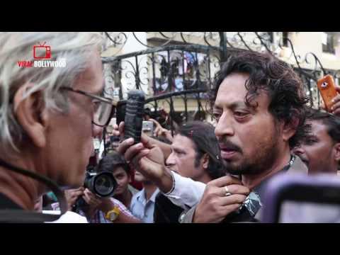 Irrfan Khan Emotional At Om Puri's last Rites | Om Puri Funeral