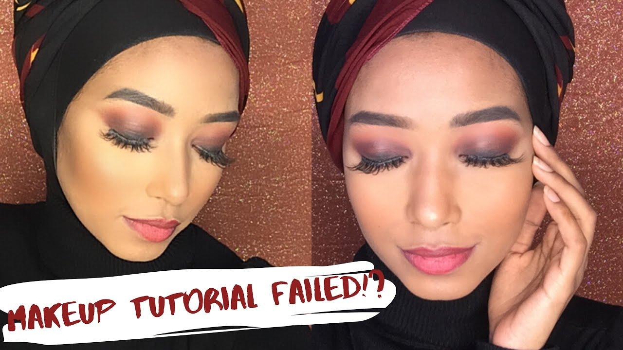 Warm Smokey Eye Makeup Look (FAILED!?) | FAHIMA HAQUE