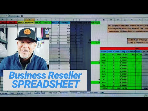 Reseller Business Spreadsheet - Numbers Tracking for Online Selling - Ebay/Amazon