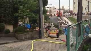 fire in Nakai, tokyo ハウス火災を行います