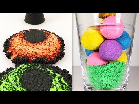 Very Satisfying and Relaxing Compilation 112 Kinetic Sand ASMR