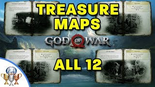 God of War - All 12 Treasure Map Locations and Dig Spots - Treasure Hunter Trophy Guide