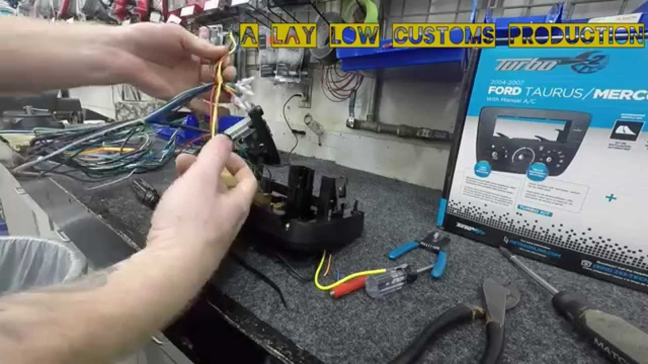 Taurus Radio Replacement Youtube 2007 Ford Stereo Wiring Diagrams