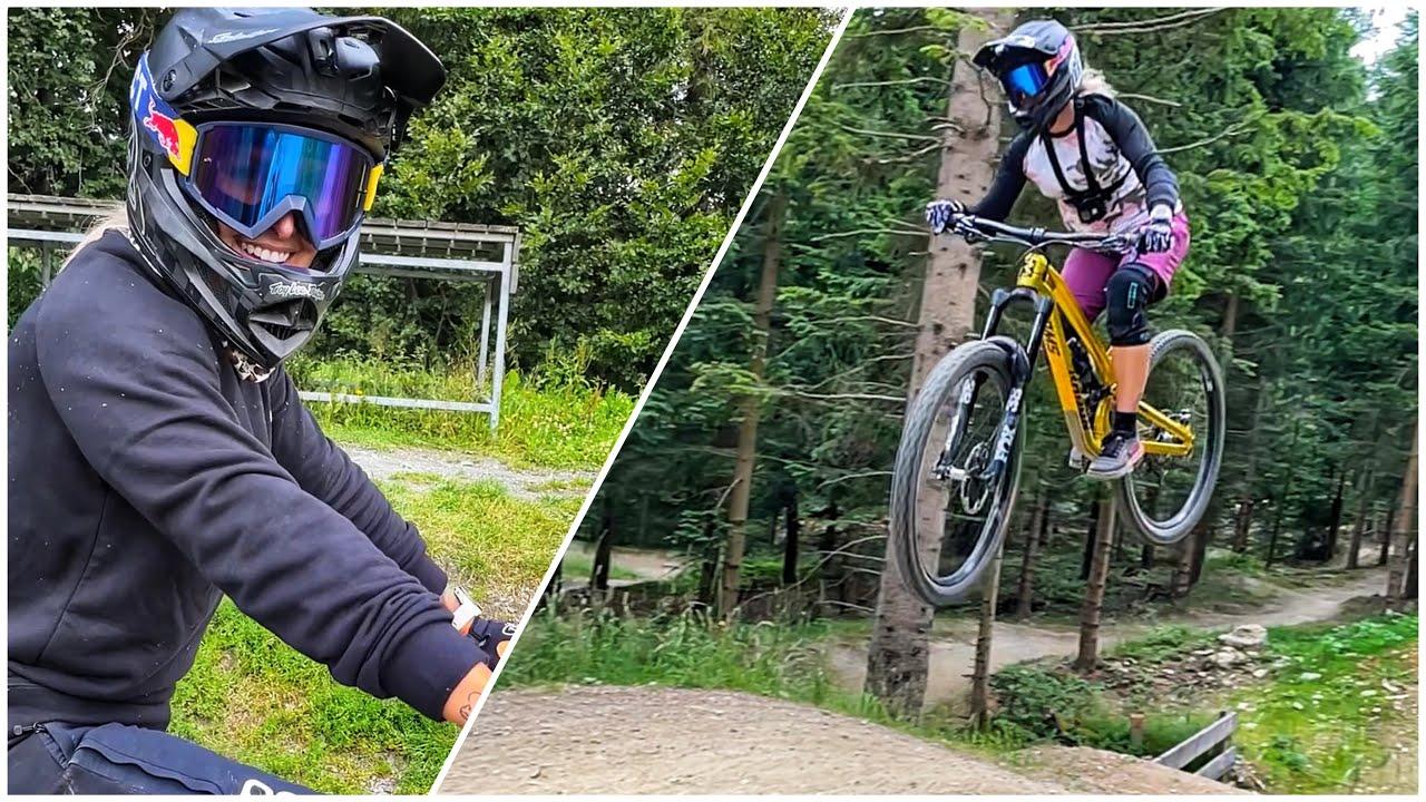 Progress feels good 🙏🏼 Springen von Tables im Bikepark Schöneck