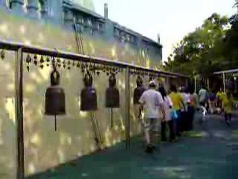 Ringing bells for Buddha, Dharma and Sangha