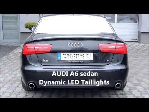 audi a6 sedan dynamic led turn lights dynamischer. Black Bedroom Furniture Sets. Home Design Ideas