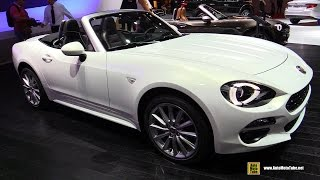 2017 Fiat 124 Spider Lusso Plus - Exterior and Interior Walkaround - 2016 Paris Motor Show