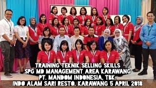 Training Teknik Selling Skills SPG MD Management Mandom Area Karawang, 4 April 2018
