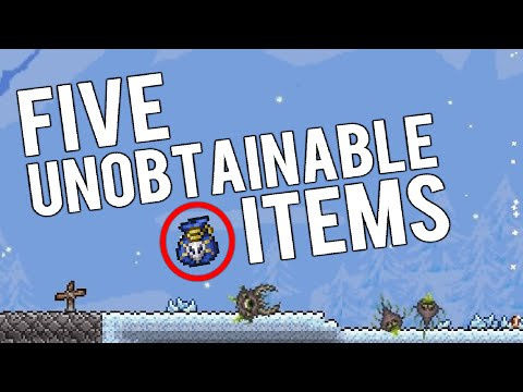 Top 5 Unobtainable Items in Terraria | Enemies, Tools and Buffs!