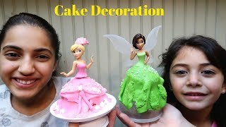 CAKE DECORATING CHALLENGE! Toys Princess Cake Decoration - HZHtube Kids Fun