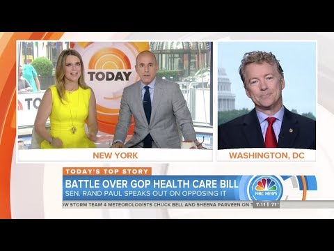 Download Youtube: Sen. Rand Paul: We ran on repealing, not keeping, Obamacare - June 23, 2017