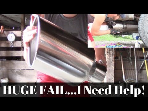 Exhaust Tip Failure!!! I NEED Help | How Could This Go Wrong!?