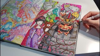 Japanese Theme Doodle | SAMURAI Character and more! thumbnail