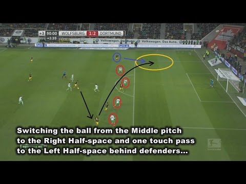BvB TACTIC under Tuchel. Part 3: Attacking organization Switching the ball