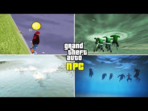 Can NPCs Swim? (GTA Evolution) (III Vs VC Vs SA Vs LCS Vs VCS Vs IV Vs CTW Vs V)
