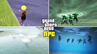 Can NPCs Swim? (GTA Evolution) (III vs VC vs SA vs LCS vs VCS vs IV vs CTW vs V)
