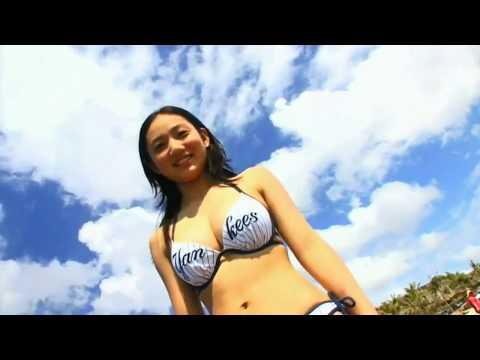 Young Girl Hot Yoga on Sea Beach.