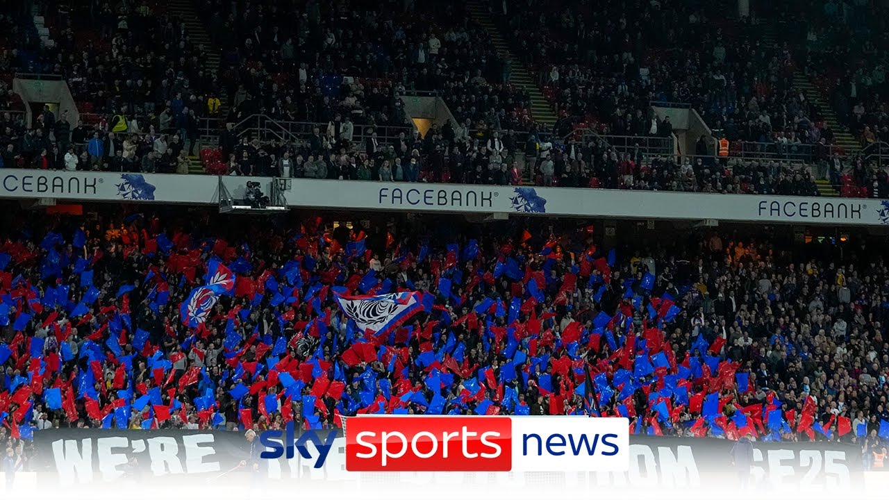 Download Police investigating graphic banner displayed by Crystal Palace fans criticising Saudi Arabian deal
