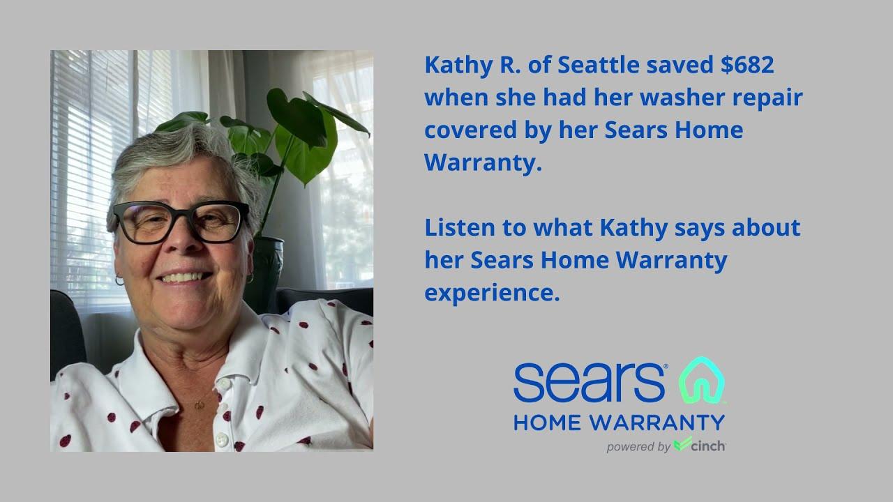 Sears Home Warranty Customer Testimonial: Kathy R.