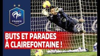 Travail devant le but pour les attaquants, Equipe de France I FFF 2019