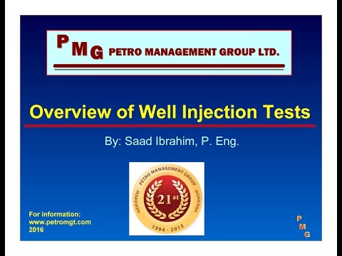 Review of Well Injection tests - Saad Ibrahim, P. Engineer, President Petro Management Group
