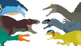 Dinosaurs cartoons battles - DinoMania - compilation 2018 | Godzilla vs Zilla Cartoons