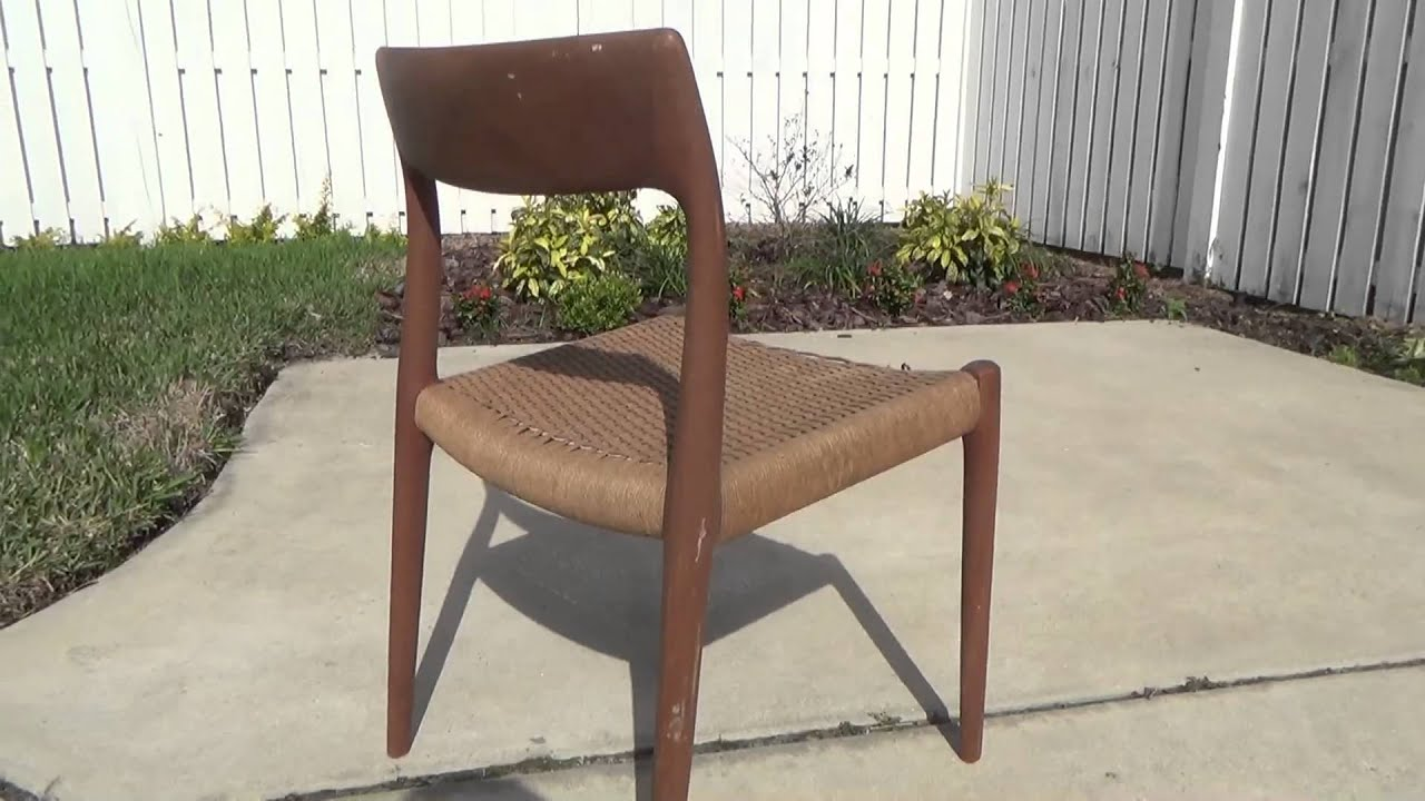 Vintage Danish Modern JL Moller Chair Refinish Part 1