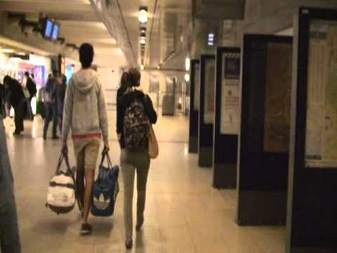 Gare de Lyon walkthrough from train station to metro line 14