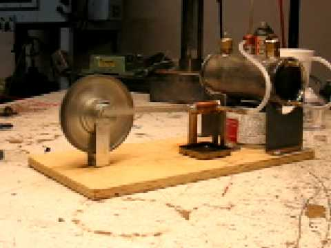 Steam engine with boiler - YouTube