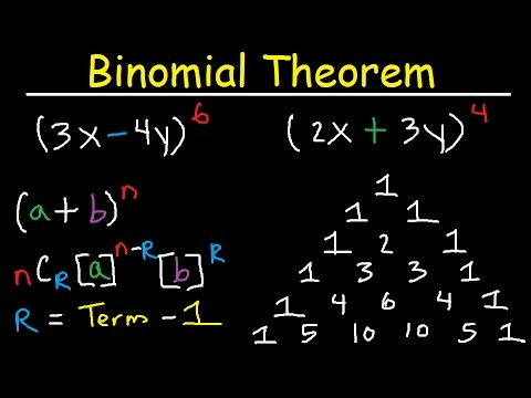 Binomial Theorem Expansion, Pascal's Triangle, Finding Terms & Coefficients, Combinations, Algebra 2