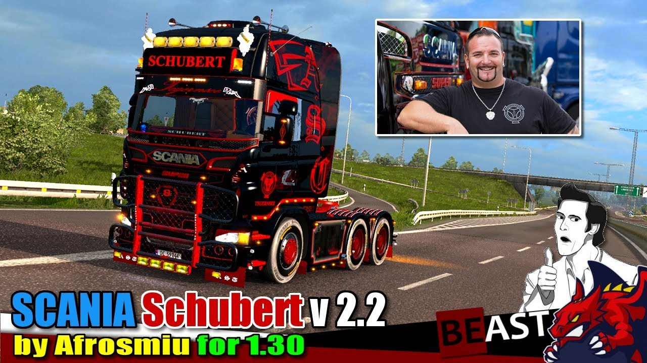 Ets2 Adapted Truck Mod Scania Andreas Schubert V2 2 By