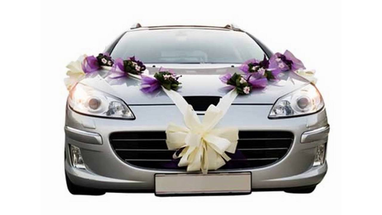 Decoraciones de coches de boda - YouTube