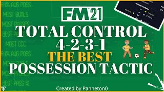 TOTAL CONTROL 4-2-3-1! The BEST Possession FM 21 Tactic 😍 | 70% Possession! | Football Manager 2021