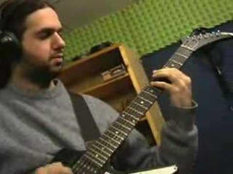Marcello Zappatore recording Kiss of Death's Inferno Inc.