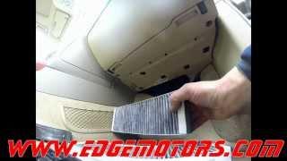 2005 2011 audi a6 cabin air pollen filter replaement diy by edge motors