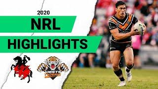 Dragons v West Tigers Match Highlights | Round 1 NRL 2020