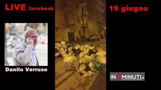 differenziata, 19 giugno, rifiuti in strada altopiano lanterna, diretta facebook