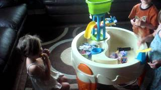 Kids Playing With Water Table!