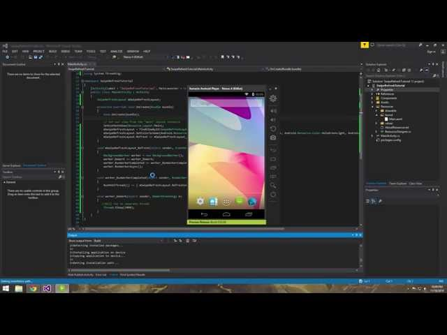 Xamarin Android Tutorial   13   Creating a Swipe Refresh Layout