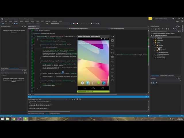 Xamarin Android Tutorial   13   Creating a Swipe Refresh Layout
