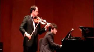 Chopin Nocturne in C sharp minor for violin and piano .Arr.Milstein