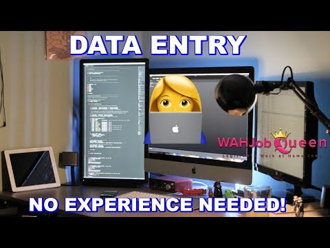 ONLINE DATA ENTRY WORK AT HOME JOB - NO EXPERIENCE NEEDED *URGENT*