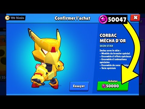 BRAWL STARS - ON A ENFIN LES 50 000 POINTS STAR !! CORBAC MÉCHA OR