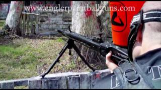 1000 paintballs - Engler MG-42 Paintball Gun vs Caddy full of Zen